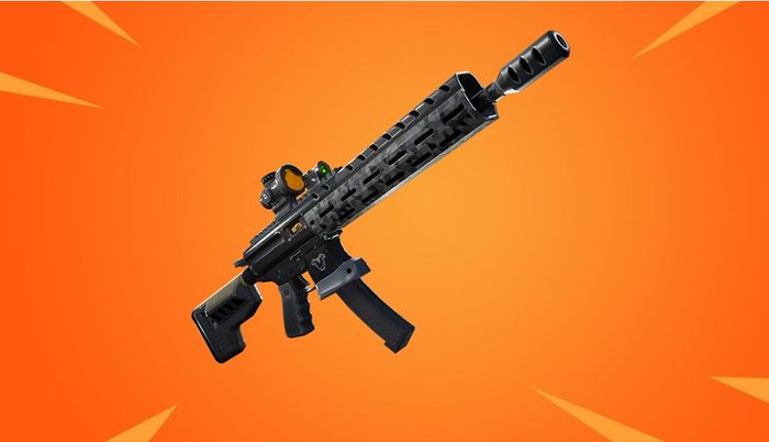 fortnite tactical assault rifle gold background