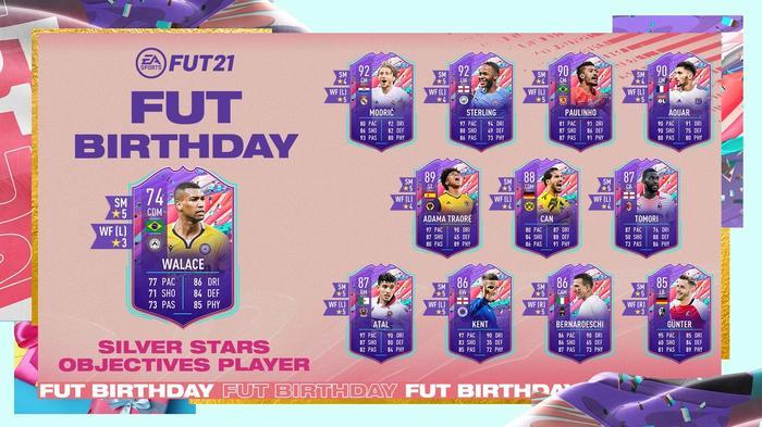 FIFA 21 FUT Birthday Silver Stars Objectives Walace Ultimate Team