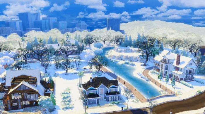 the sims 4 snowy escape snow mod 1