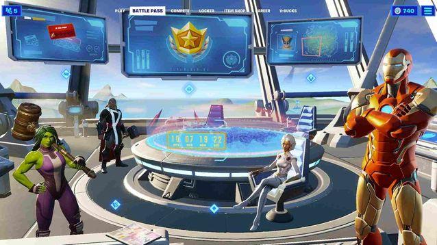 Fortnite Galactus الحدث العد التنازلي معركة تمرير الشاشة