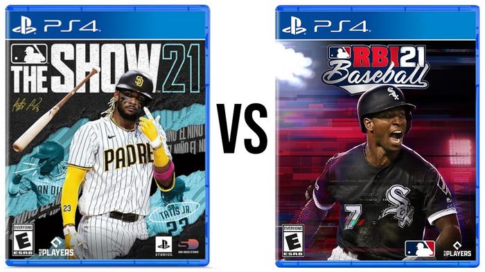 MLB The Show 21 and RBI Baseball 21 Covers Image