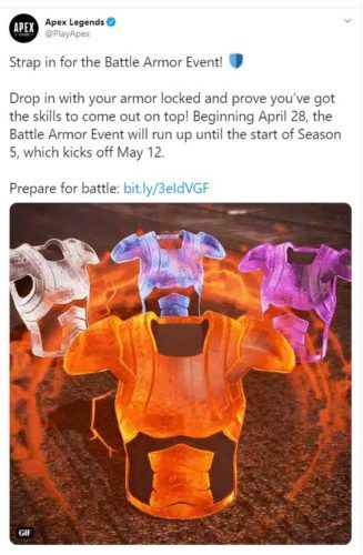 Apex Legends Season 5 Start Date and Battle armor mode