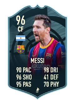 fifa 21 messi player of the month 96