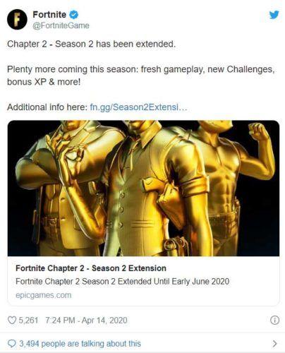 Fortnite season 2 extended