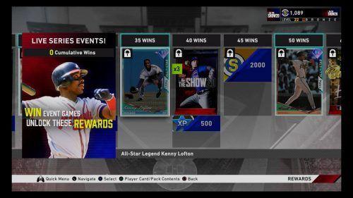MLB The Show 20 Diamond Dynasty Live Series 2 Event Rewards