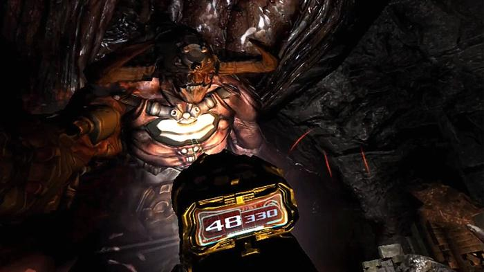 Doom 3 VR Flashlight demon PSVR