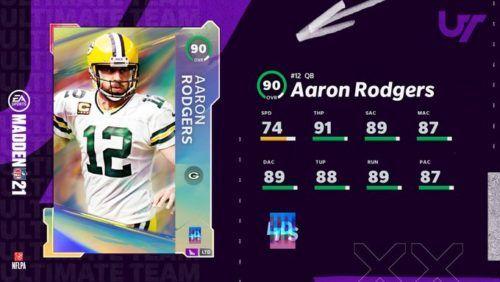 Madden 21 LTD Aaron Rodgers