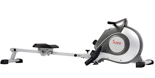 Best Rowing Machine 2021 Sunny Health & Fitness product image of grey and silver magnetic machine