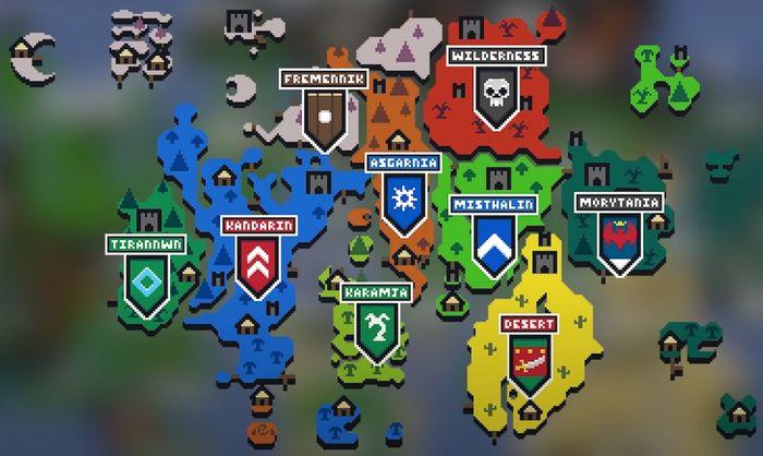 OSRS Trailblazer League regions map