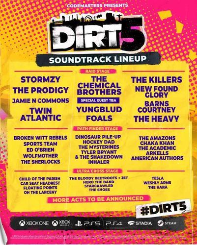 dirt 5 soundtrack poster