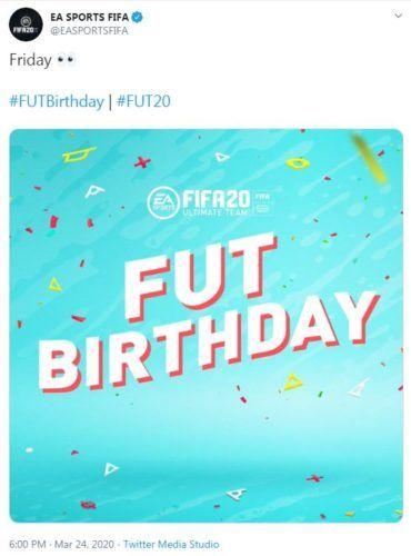 fut birthday release date fifa 20