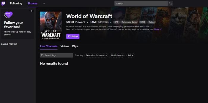 Twitch.tv no results found servers down streams wont load