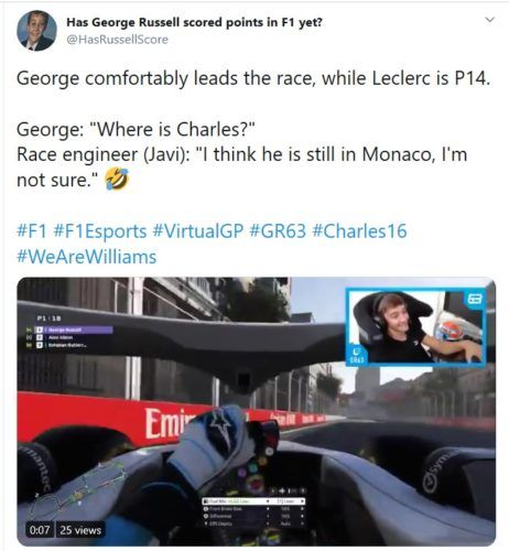 Russell Leclerc Funny Azerbaijan Baku Virtual GP
