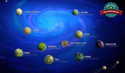open galaxy of planets