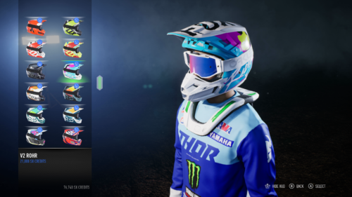 Customization options in Monster Energy Supercross 3
