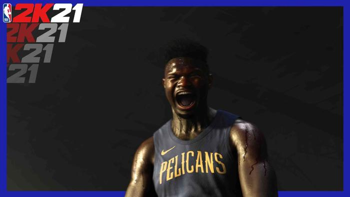 NBA 2K21 Zion Williamson Hype Still from PS5 Teaser Trailer