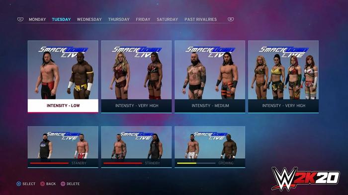 WWE 2K20 Universe Mode screenshot