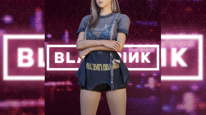 Image with Rose form BLACKPINK in her skin for PUBG