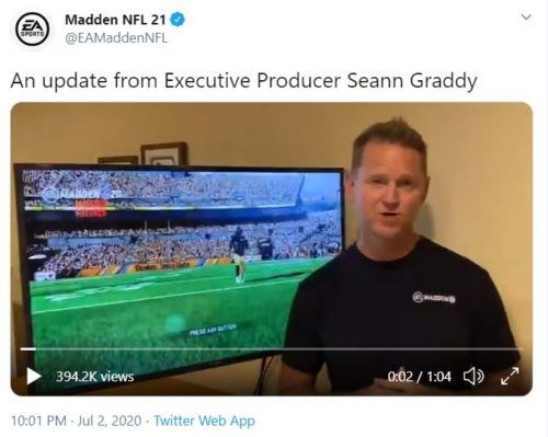 Madden 21 Executive Producer Seann Graddy responding to community criticism