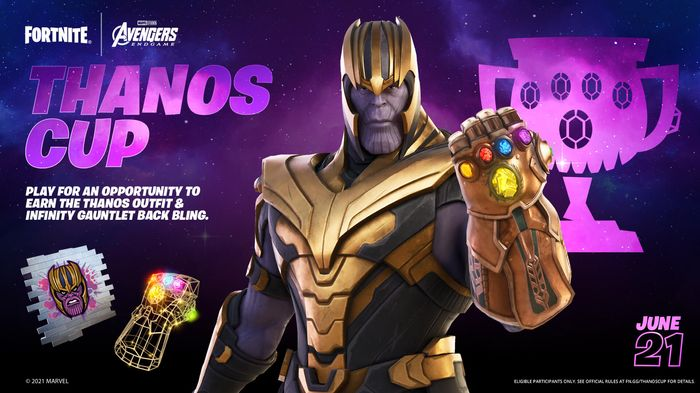 thanos cup, fortnite