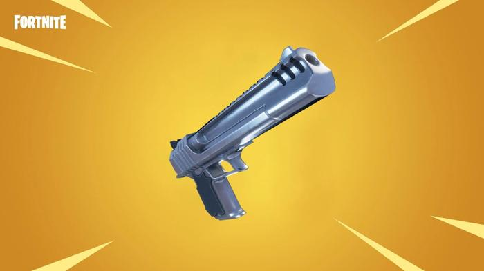 fortnite hand cannon gold background