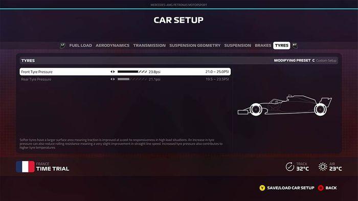 F1 2019 french grand prix setup tyres