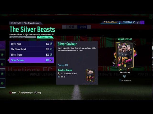 FIFA 21 the silver beats objectives