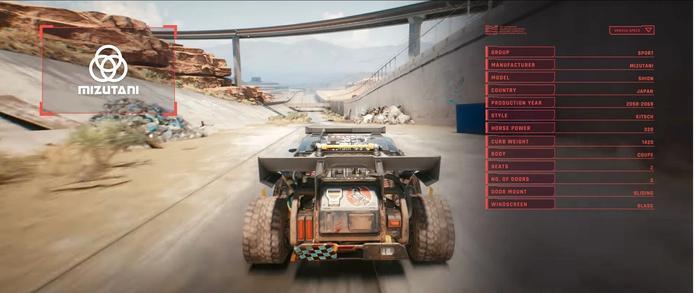 Cyberpunk 2077 Vehicles Mizutani 1