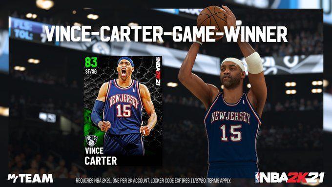 Vince Carter Locker Code