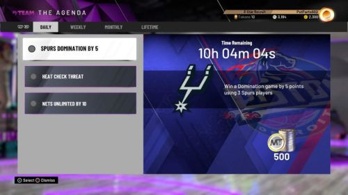 NBA 2K20 MyTEAM daily challenges myteam tokens mt