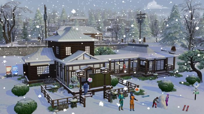 the sims 4 snowy escape house 1
