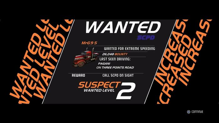 Need For Speed™ Hot Pursuit Remastered level up screen