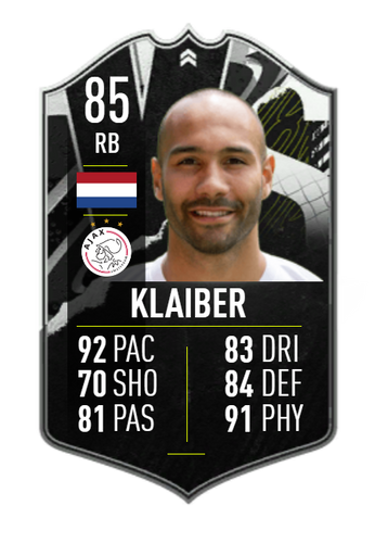 SOLID! Klaiber is an 85 OVR... for now