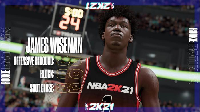 NBA 2K21 Ratings James Wiseman Golden State Warriors 1