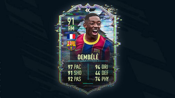 FIFA 21 Ultimate TOTS Team of the Season Ousmane Dembélé
