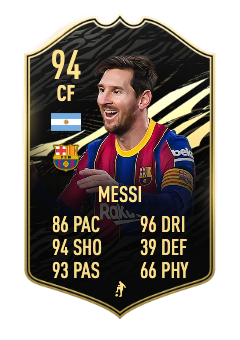 fifa 21 messi in form 94 totw