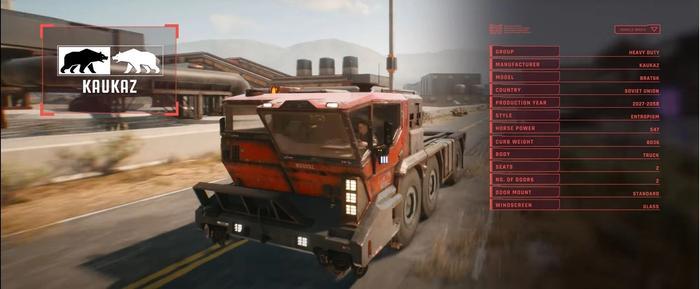 Cyberpunk 2077 Heavy Duty Vehicles Bratsk 1