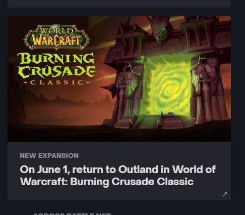 WoW Classic TBC Release Date leak