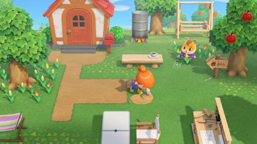 House exterior in Animal Crossing