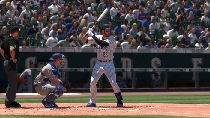 Nolan Arenado at the plate in MLB The Show 19