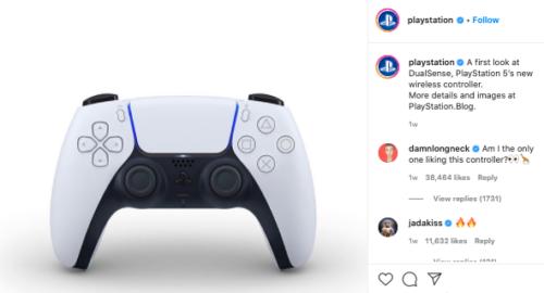 ps5 controller instagram post