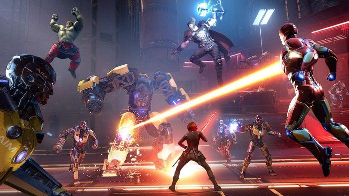 Avengers good Iron Man Black Widow Hulk AIM Mechs