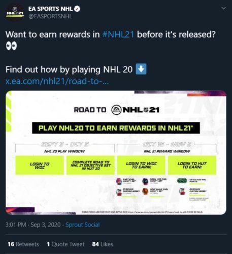 NHL 21 rewards 1