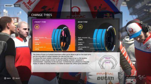 MotoGP™20 tyre setup Catalan
