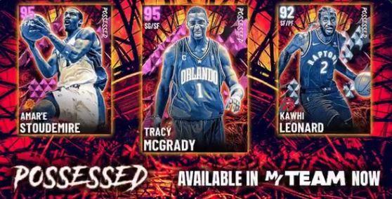 NBA 2K21 Possessed Set Packs McGrady Stoudemire Leonard