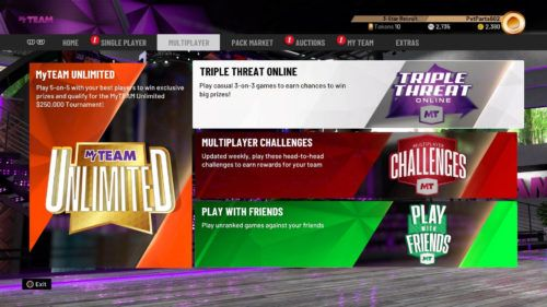 NBA 2K20 Multiplayer game modes MyTEAM virtual currency
