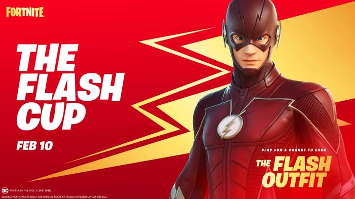 The Flash skin Fortnite The Flash Cup announcement