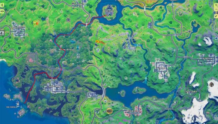 Fortnite season 4 week 10 fortilla to authority route