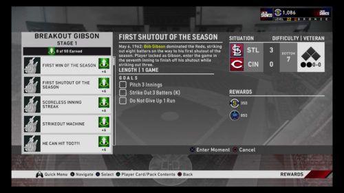 Bob Gibson MLB The Show 20 moments Diamond Dynasty