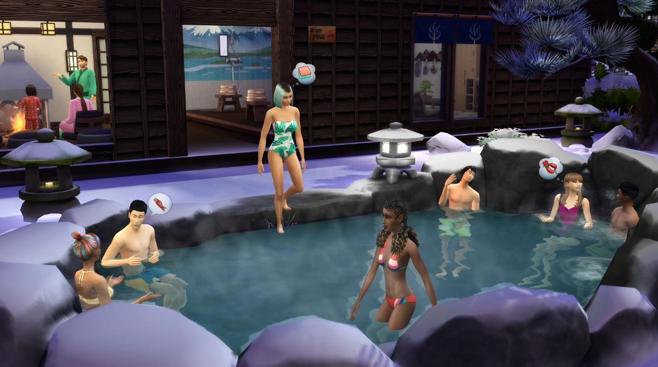 The Sims 4 Snowy Escape: Get frisky in public with new WooHoo Spots!